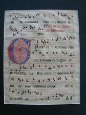 Illuminated Manuscript vellum leaf page from a choir book
