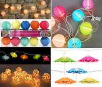 LED Garland String Fairy Lights Lantern Ball Umbrella Shape Home Wedding Party