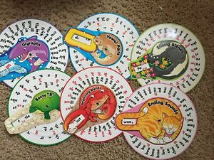 Lakeshore Learning Writing PHONICS FUN PROMPT WHEELS LOT 1ST 2ND GRADE AGE 5-8