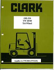 Clark Overhaul Manual Tw20 Tw30 Tw40 Tw235 On A Cd Hi Resolution Shop Repair