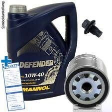 Ölwechsel Set 5L Mannol Defender 10W-40 Motoröl + Ölfilter + Schraube für Opel