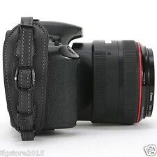 Herringbone Heritage Leather Camera Hand Grip Strap Black Type2 for DSLR Camera