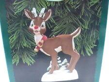 NEW Rudolph the Red Nose Reindeer Ornament Lighted 1996 Hallmark Keepsake