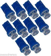 T10 LOT REVENDEUR 10 AMPOULES T10 W5W BLEU 12V A LED  -  C1881