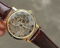 Mens Wrist Watch Luxury Gold Skeleton Vintage Men's Wristwatch Brand Mechanical