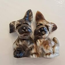 SCOTTIE DOGS Salt Pepper Shakers 1950's VTG Japan Schnauzer Scottish Terrier S&P