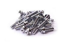 30x Chrome Split Rim Bolts M7 x 24mm BBS RM OZ Wheels 10.9 High Tensile Steel