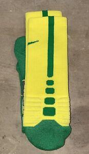 Nike Oregon Ducks Team Issued Hyper Elite Basketball Socks Size Large New