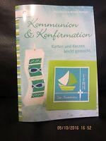 Buch, Bastelbuch, Karten und Kerzen, Kommunion und Konfirmation