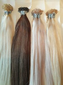 """NANO TIP TIPS RING REAL HUMAN HAIR EXTENSIONS REAL  REMY 1g 20""""STRAIGHT REMY 1 g"""