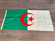 Large Vintage National Flag of Algeria Stitched Woven Fabric 6Ft / 2Yard