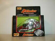 1996 MAISTO 2 WHEELERS 1/18 SCALE RED INDIAN CHIEF V-TWIN