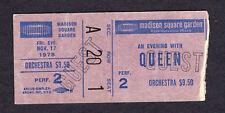 1978 Queen concert ticket stub Jazz Tour Freddie Mercury Madison Square Garden