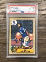 1987 Topps Bo Jackson Rookie PSA 8 RC #170