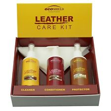 Ecoshield Leather Care Kit for Maintaining Leather Furniture, Car Seats & Bags