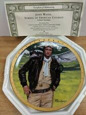 John Wayne Symbol of American Courage Franklin Mint Plate Ha2610 091719Dbt2
