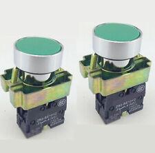 Us Stock 2pcs 1 No Xb2 Ba31 Momentary Green Flush Push Button Switch
