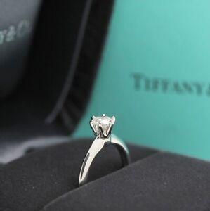 Tiffany & Co. Verlobungsring Platin 950 - Gr.47 - Box & Zertifikat 0.41 ct - VS2