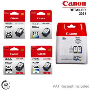 Genuine Canon PG545/PG545XL or CL546/CL546XL Ink Cartridges for PIXMA Printers