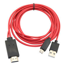 MHL Micro USB to HDMI Cable 1080p HDTV Lead for Samsung LG HTC