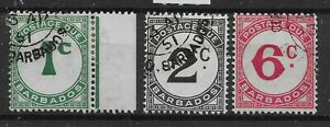 BARBADOS SGD4/6 1950 POSTAGE DUE ORDINARY PAPER SET USED