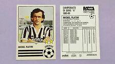 "CALCIO CARD FORZA GOAL JUVENTUS PLATINI 1985-86 ""COPIA ANASTATICA"" REPRINT -FIO"