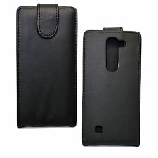 Stylish Black Leather Phone Full Cover Case Pouch For LG Magna H502F H500F