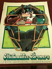 1975 Milwaukee Brewers New York Yankees Program Catfish Hunter Henry Aaron Bonds