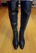genuine leather over the knee boots size 8 EUC