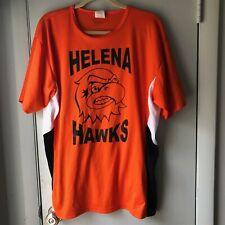 Helena Hawks Jersey Athletic Knit made in Canada Orange Black #9 size large