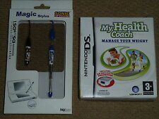 NINTENDO DS LITE MY HEALTH COACH GAME + 2 OFFICIAL SONIC STYLUS PEN BRAND NEW!