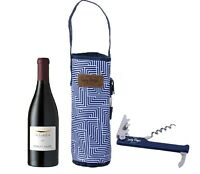 Wine Cooler Bag Bottle Drink Carrier Tote Bag Travel Picnic w/ Strap & Opener AU