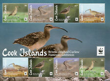 Cook Islands 2017 MNH Bristle-thighed Curlew WWF 8v M/S Curlews Birds Stamps