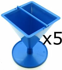 5 x Pyramid plastic candle mould. Make pyramid candles from 3 to 9cm high