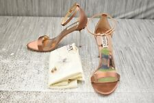 Badgley Mischka Vicia Embellished Evening Heels, Women's Size 8.5, Dark Nude NEW