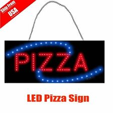 19x10''Pizza Pie Slice takeout Open Led Store Shop animated Business Sign neonB