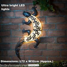 Solar Powered Led Light Gecko Wall Art