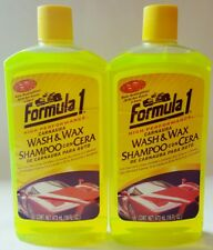 2 Formula 1 Carnauba Car Wash and Wax High Performance Auto Cleaner Shampoo 16oz