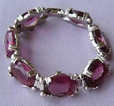 Glass Silver Plated Bracelet Vintage Costume Jewellery