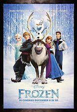 FROZEN * CineMasterpieces ORIGINAL MOVIE POSTER 2013 DS NM-M DISNEY PRINCESS ICE