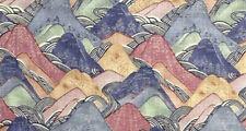 Groundworks Contemporary Mountains Linen Print Fabric- Edo Linen / Opal 0.58 yds