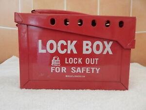 Brady Portable Group 13 Lock Box - Red