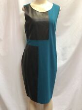 Cartise- Teal & Black Color Block Sheath Dress- Sz 16