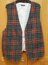 Men's J Crew wool plaid vest waistcoat size L