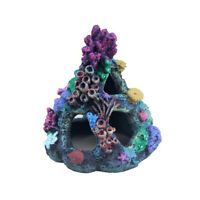 Aquarium Rockery Hiding Rock Cave Mountain View Ornament Fish Tank Rockery