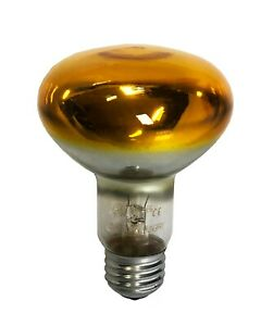 10 x GE Coloured Reflector R50 40w Yellow ES / E27 230v Dimmable (91527)