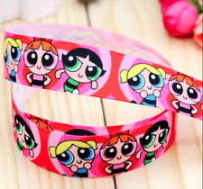 Power Puff Girls 22mm Character Ribbon 1 meter Cards, crafts, cakes