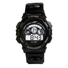 Waterproof Mens Boy's Digital LED Quartz Alarm Date Sports Wrist Watch Hot Sale