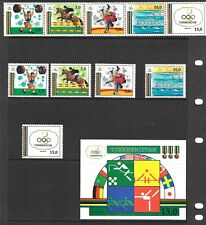 TURKMENISTAN Sc 22-23 NH 5V+STRIP+S/S of 1993 - OLYMPICS