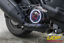 【UOP】BWS 125 ZUMA 125 CYGNUS GTR RAY CHROME FAN COVER DECORATION with COB HALO